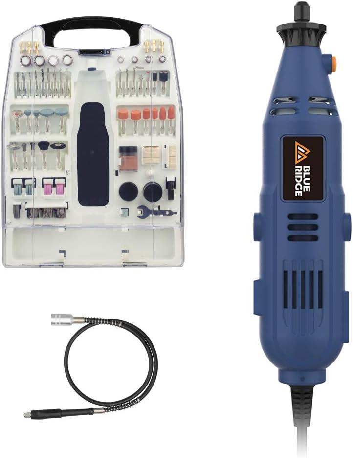 BlueRidge 130W BR3100 - Herramienta multifunción (233 piezas) Accesorios para afilar, lijar, limpiar, pulir, cortar.