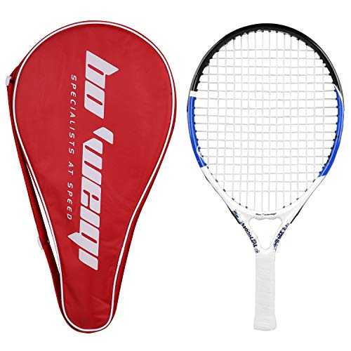 Fostoy Junior Tennis Racket, Tennis Racquet Kids Racket with Storage Bag Perfect for Boys&Girls Sports Training(19.7in) (red) ()