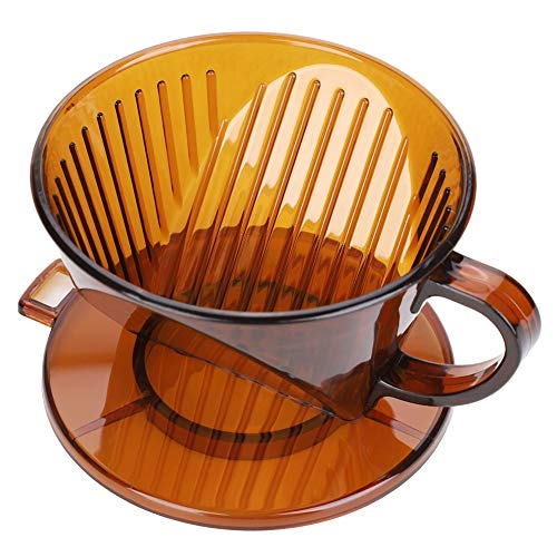 Best Quality - Coffee Filters - Reusable Plastic Box Coffee Dripper V60 Basket Coffee Filters Funnel Holder Pour Over Serving Mug Coffee Filters Accessories - by Haluya - 1 PCs