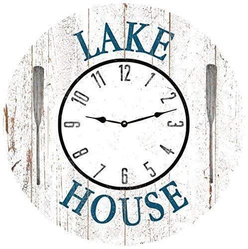Amazon Com White Lake House Clock Lake House Wall Clock Handmade