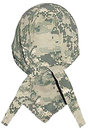 (Camouflage Doo Rag Skull Cap Camo Bandana Hunting Hunters Head Wrap (ACU Digital)