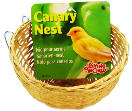 Living World Bamboo Canary Nest, 4 x 2-1/4 Inches