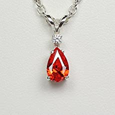 Amazon mexican fire opal necklace sterling silver with mexican fire opal necklace sterling silver with diamond accent aloadofball Gallery