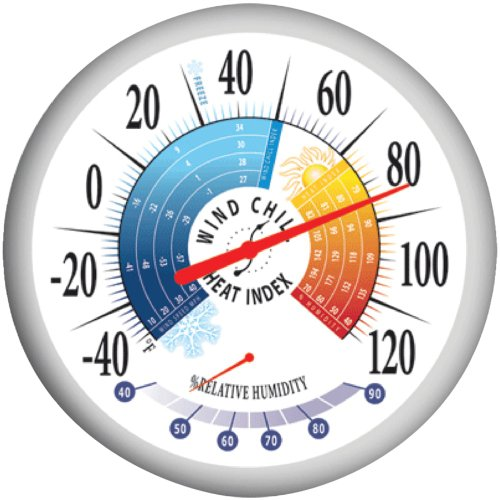 Taylor Precision Products 90078 Outdoor Thermometer, White