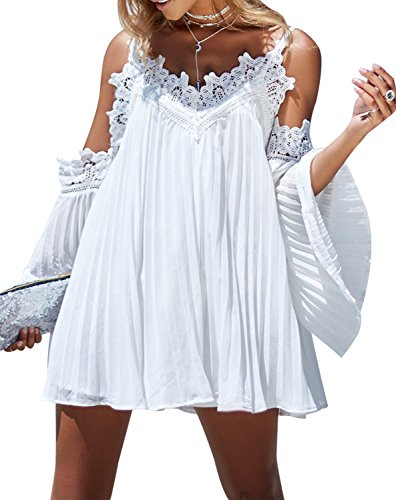 one sleeve white dresses for juniors - 1