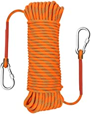 Gonex Static Climbing Rope, 8mm Safety High Strength Outdoor Hiking Fire Escape Parachute Cord Rope 32ft 64ft
