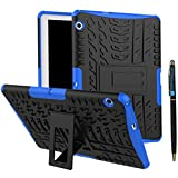 MediaPad T3 10 9.6 Inch Armor Case DWaybox Rugged Heavy Duty Hard Back Case Cover with Kickstand for HUAWEI MediaPad T3 10 9.6 Inch (Blue)