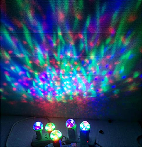DEESEE(TM) NewUSB Mini LED RGB Disco Stage Light Party Club DJ KTV Xmas Magic Phone Ball Lamp 5Colors (Green) by DEESEE(TM)_🌸Cell Phone Accessories (Image #3)