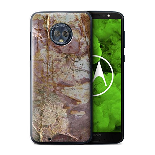ver for Motorola Moto G6 Plus 2018 / Eroded Design/Stone/Rock Collection ()