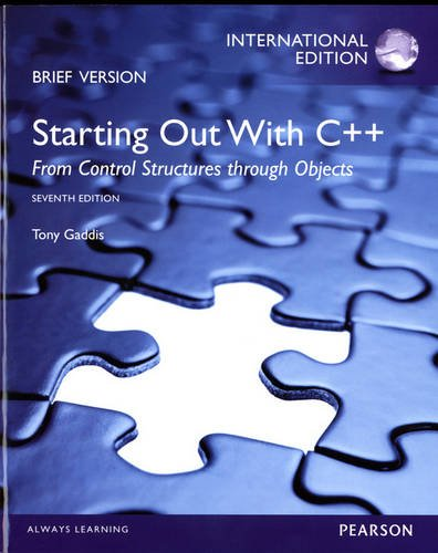 Download Starting Out with C++: From Control Structures through Objects, Brief Edition: International Edition pdf epub