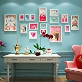 Love photo wall combination of love picture frame wall wedding photo wall wedding room decoration painting 5 Inch 7 Inch 14 Inch ( Color : White )