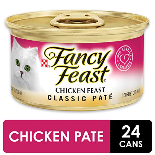 Purina Fancy Feast Grain Free Pate Wet Cat Food, Chicken Feast - (24) 3 oz. Cans (Best Food For Burmese Cats)