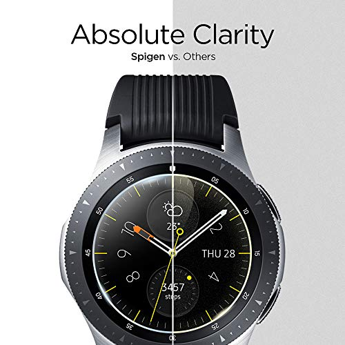 Spigen Tempered Glass Screen Protector Designed for Galaxy Watch 46mm (2018) / Gear S3 Classic (2016) / Gear S3 Frontier (2016) [9H Hardness/Case-Friendly] - 3 Pack