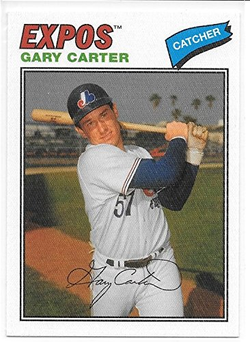 Gary Carter 2012 Topps Archives Cloth Stickers Montreal Expos Insert Card #77C-GC (Topps Cloth 1977)