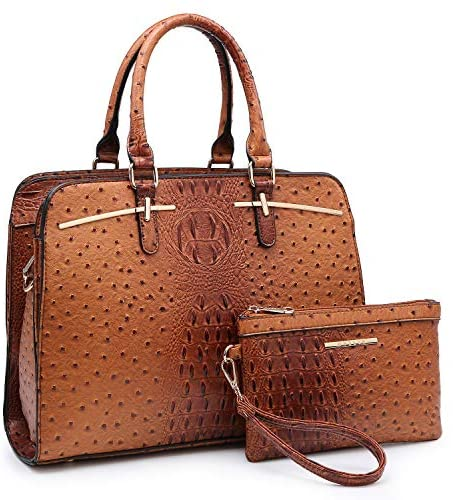 Dasein Women Satchel Handbags Shoulder Purses Totes Top Handle Work Bags with 3 Compartments