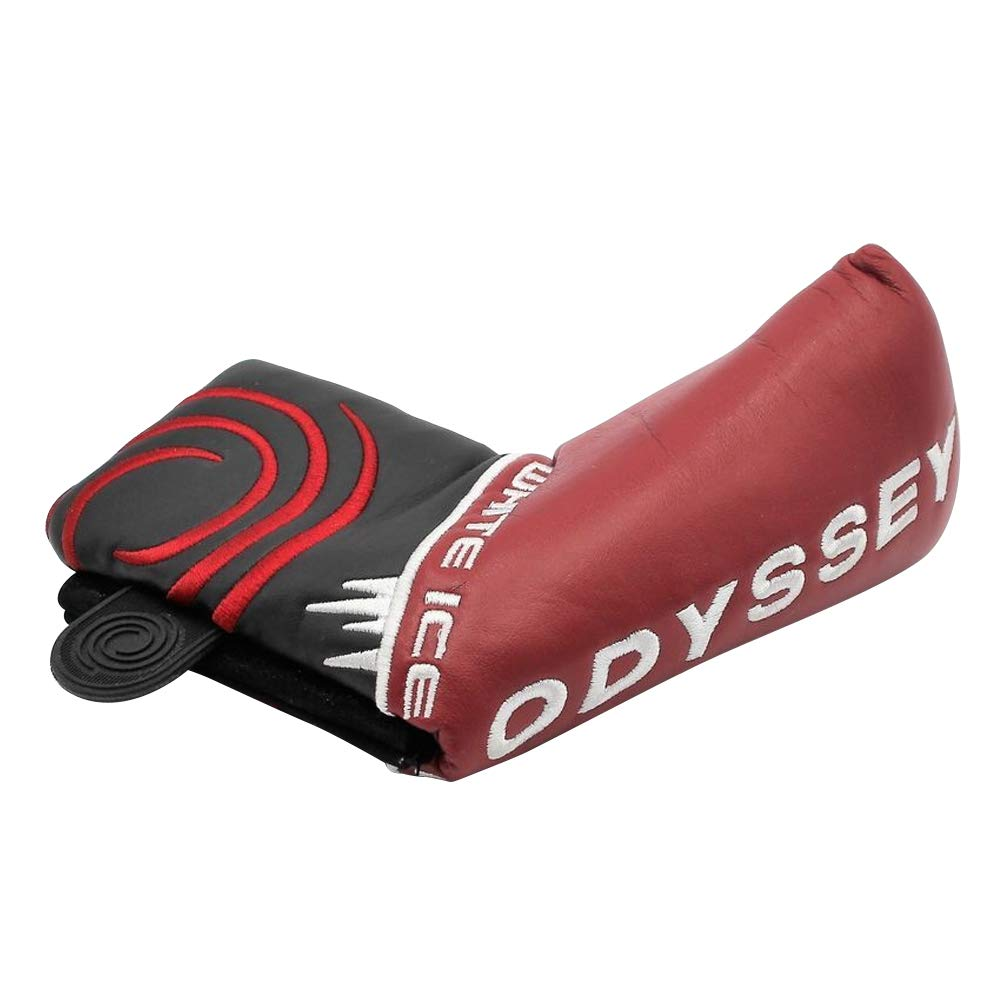 Odyssey White Ice Bladeパター用ヘッドカバー – ダークレッド色 – 新しい B01M1LCFS1