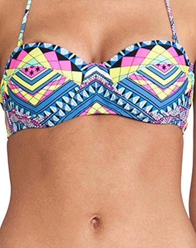 Traje de baño bikini de moda traje de baño étnico Azul
