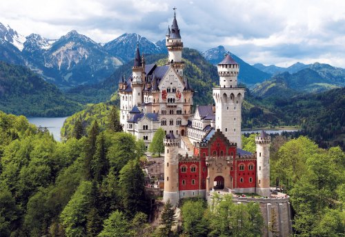 Buffalo Games - Neuschwanstein Castle Bavaria - 2000 Piece J