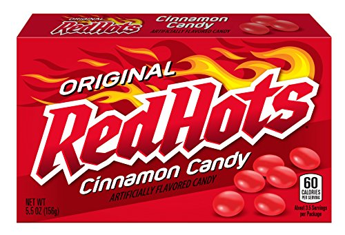 - Red Hots Cinnamon Candy, 5.5 Ounce Box, Pack of 12