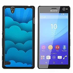 LECELL--Funda protectora / Cubierta / Piel For Sony Xperia C4 -- Nubes azules --