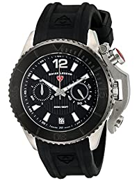 Swiss Legend Men's 'Scorpion' Quartz Stainless Steel and Silicone Automatic Watch, Black (Model: 14018SM-01-BB)