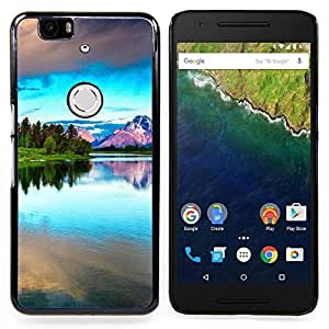 - Nature Beautiful Forrest Green 42/ Hard Snap On Cell Phone Case Cover - Cao - For Huawei Nexus 6P