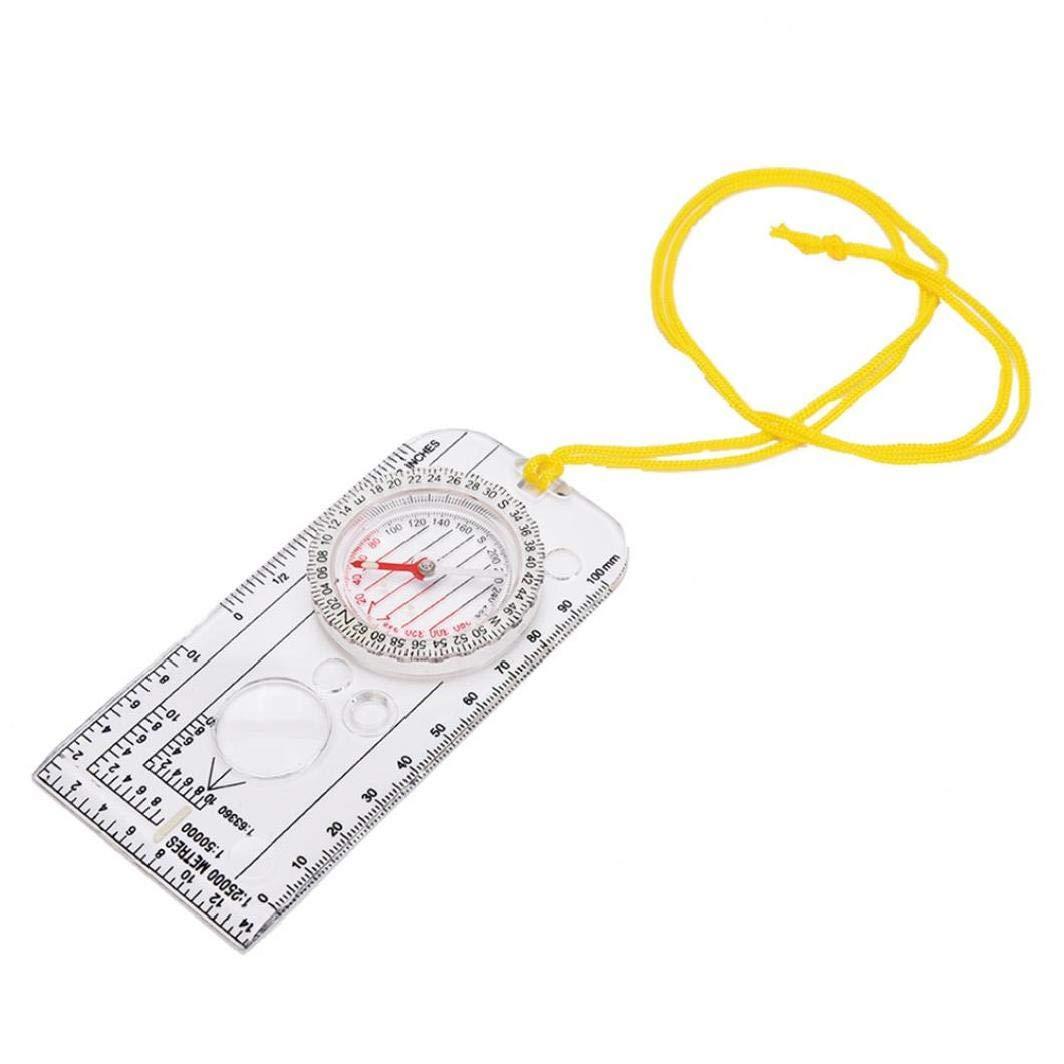 Acryl Professionelle Karte Zeichnungsma/ßstab Compass Bewegliche Hand Kompass Multifunktions Map Scale /Überlebensausr/üstung F/ür Outdoor-Wandern