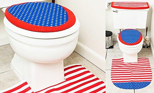 Amazing Amazon.com: 4th Of July Bathroom Decor 4 Pcs Set   Patriotic Bathroom And Toilet  Set: Home U0026 Kitchen
