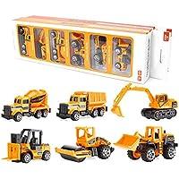 Juguetes de Construcción Juegos Vehículos de Aleación para Niños Juego Tractor Camión Volquete Excavadora Remolque…