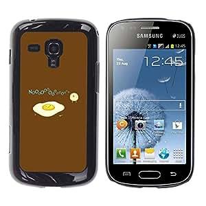 rígido protector delgado Shell Prima Delgada Casa Carcasa Funda Case Bandera Cover Armor para Samsung Galaxy S Duos S7562 /Baby Chicken Chick Yellow White/ STRONG