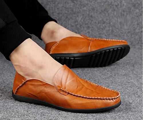 Guida autunno Mocassini Scarpe E Primavera 45 Slip Leggings on Uomo black Casual Da Hy Redbrown Traspiranti Casuali Comfort Pigri Hwqn46RWW