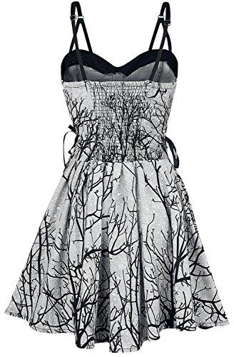 Vixxsin Dark Forest Dress Vestido negro-blanco negro-blanco