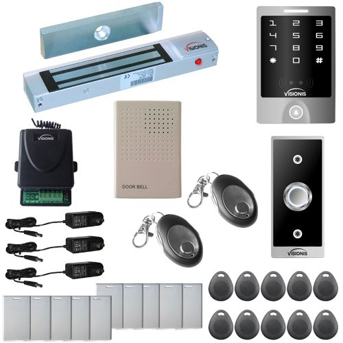 e Door Access Control Outswinging Door 300lbs Maglock with VIS-3000 Outdoor Weatherproof Keypad/Reader Standalone no software 2000 Users Wireless Receiver Kit (Weatherproof Card Reader)