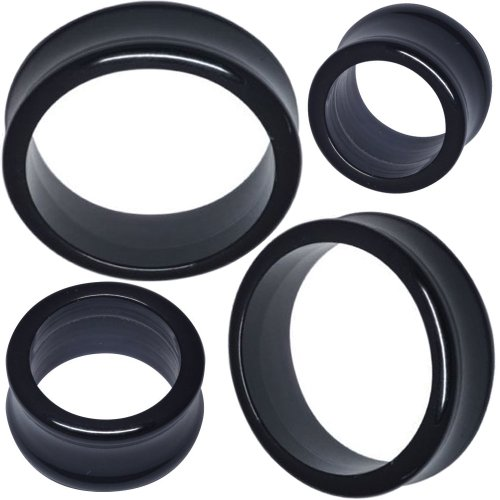 3/4 Inch gauges ear plugs flesh tunnels double flare expander stretcher MoDTanOiz 20mm (Acrylic Double Flare)