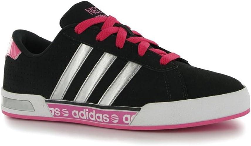 adidas Kids Trainers Girls Pink NEO Daily Mono UK Child Size 10 EU ...