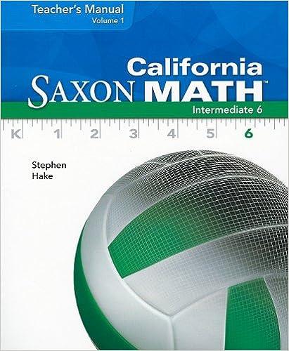Amazon california saxon math intermediate 6 vol 1 teachers california saxon math intermediate 6 vol 1 teachers manual fandeluxe Gallery