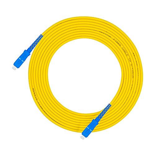 Jeirdus 30Meters 100ft SC to SC Fiber Optic Cable Jumper Optical Patch Cord Simplex Single-Mode 9/125 SC-SC