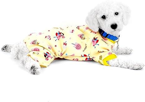 SMALLLEE_LUCKY_STORE Lollipop Print Pijamas de Perro Ropa de Perro para Perros pequeños Pijamas de Perro Mono de Perro Atuendo de Gato Pijama Cachorro ...