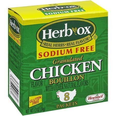 (Herb-Ox Sodium Free Chicken Flavor Granulated Bouillon Packets 8 ct Box (Pack Of 2) )