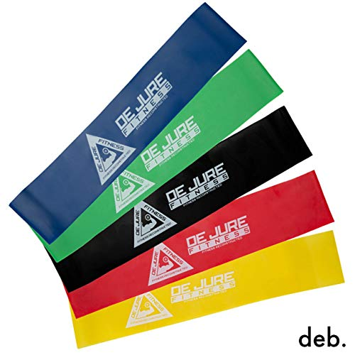 deb. Unisex Resistance Stretch Loop Bands for Fitness Workout, Gymming, Stretching, Glutes, Strength Training, Physical Therapy, Yoga – Pack of 5 Price & Reviews