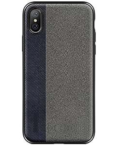 BALIYIN NewestFashionLeatherPhoneCoverforIphoneX, Contrast Color Case for IphoneX, Super Thin Cradles for IphoneX, (Blue)