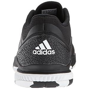 adidas Performance Women's Crazyflight Bounce W Volleyball Shoe, Black/White/Black, 10 Medium US