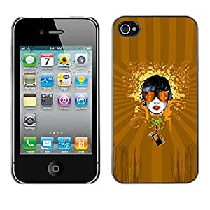 LECELL -- Funda protectora / Cubierta / Piel For Apple iPhone 4 / 4S -- Abstract Girl Art --