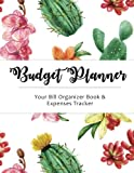 Budget Planner: Cactus Large budget planner, (8.5x11 inches) : Expense tracker for 24 Months (Monthly Bill Tracker) (Volume 4)