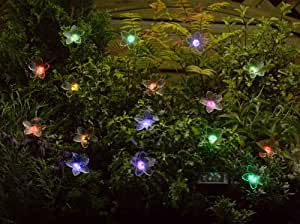 Smart Solar Fibre Optic Colour Changing Flower String Lights