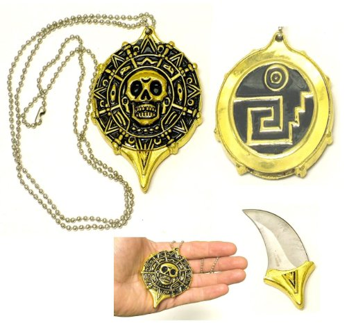 Pirate Skull Coin Pendant Neckknife ()