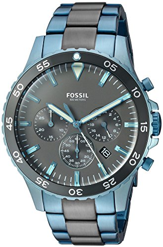 Fossil Men's CH3097 Crewmaster Sport Chronograph Two Tone (Large Image)