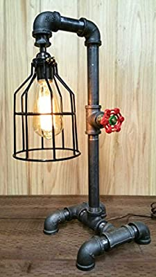 """The Calico"" Arkem Industrial Desk Lamp / Steampunk Edison Era Metal Lamp"