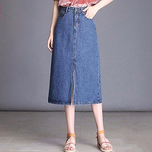 Jupe Taille Longue Blue Jeans Hip Taille QPSSP Women's Jupe Une Jupe Demi Dress pwBXxqIn4