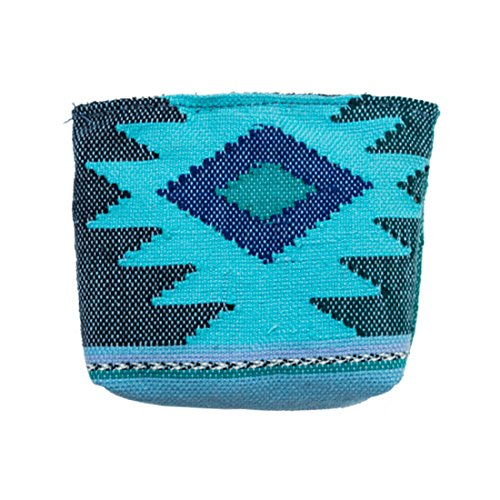 Guatemalan Native Comalapa Canvas Coin Pouch Handmade by Hide & Drink :: Sailor Blue